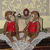 Куклы и игрушки ручной работы. Ярмарка Мастеров - ручная работа Цирковые мартышки-барабанщики. Handmade.