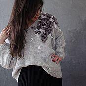 Одежда ручной работы. Ярмарка Мастеров - ручная работа Нежный пуловер Подснежник. Handmade.