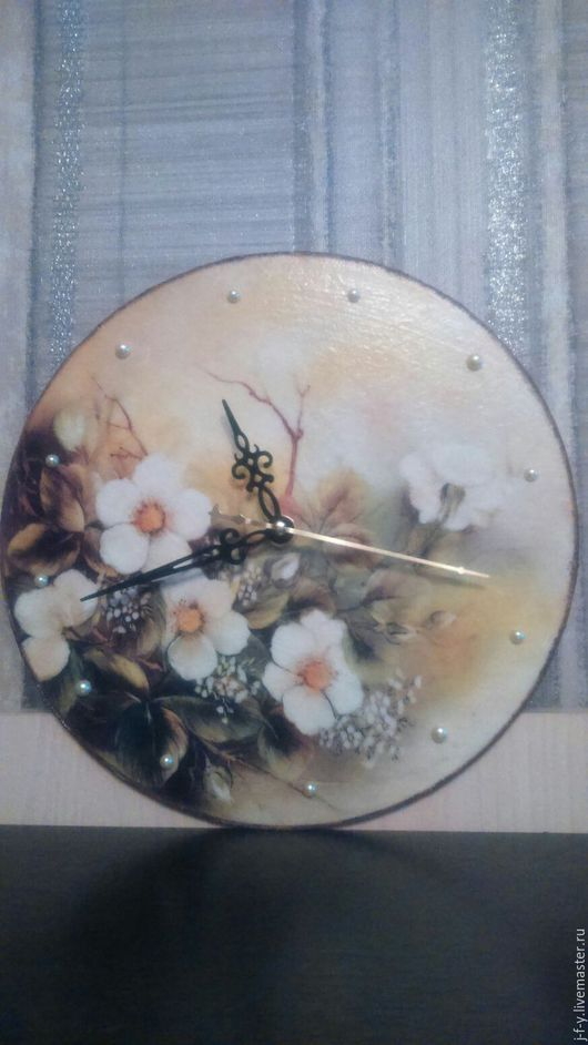 Часы для дома ручной работы. Ярмарка Мастеров - ручная работа. Купить Часы ручной работы. Handmade. Комбинированный, часы, Декупаж