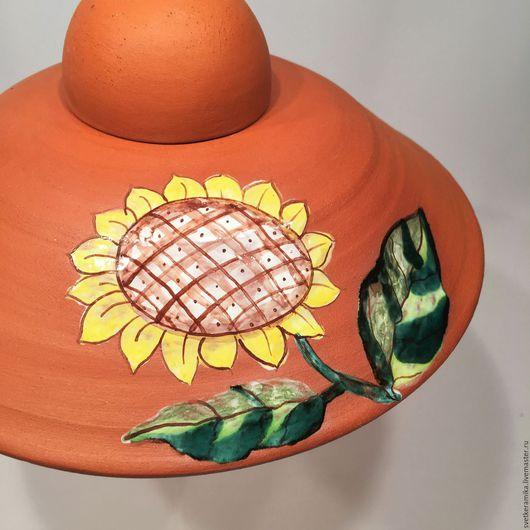Освещение ручной работы. Ярмарка Мастеров - ручная работа. Купить Керамический светильник «Рыжий, рыжий...». Handmade. Керамический плафон