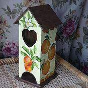 Для дома и интерьера ручной работы. Ярмарка Мастеров - ручная работа Чайный домик, декупаж. Handmade.