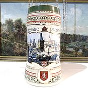 Винтаж handmade. Livemaster - original item Mug beer PRAGUE 1,1 liter. Handmade.