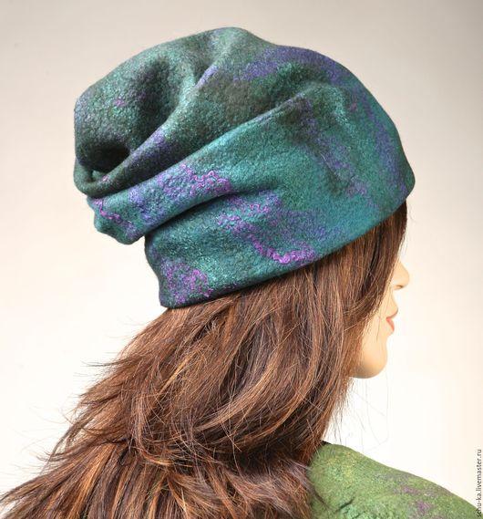 шапка валяная из шерсти