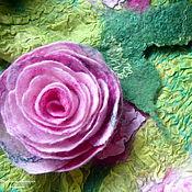 """Аксессуары ручной работы. Ярмарка Мастеров - ручная работа Шарфик """"Розы, розы, розы..."""". Handmade."""