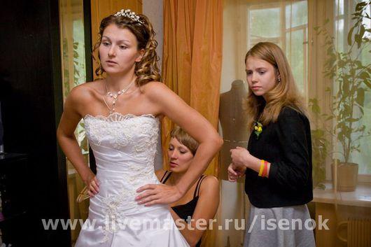 Одежда и аксессуары ручной работы. Ярмарка Мастеров - ручная работа. Купить Свадебное платье (венчальный комплект). Handmade.