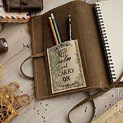 Канцелярские товары ручной работы. Ярмарка Мастеров - ручная работа Скетчбук блокнот в кожаной обложке Зарисовки путешественника. Handmade.