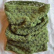 Аксессуары handmade. Livemaster - original item Green scarf-Snood, tube, cowl. Handmade.