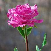 Цветы и флористика ручной работы. Ярмарка Мастеров - ручная работа Роза из полимерной глины. Handmade.