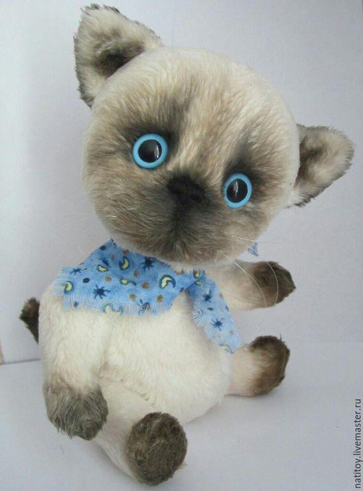 """Игрушки животные, ручной работы. Ярмарка Мастеров - ручная работа. Купить Котёнок тедди сиамчик """"Сёмка"""". Handmade. Серый, котик"""