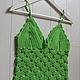 Пляжные платья ручной работы. Ярмарка Мастеров - ручная работа. Купить Топ - Сочное яблоко. Handmade. Ярко-зелёный