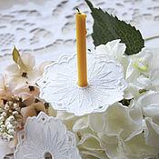 """Работы для детей, ручной работы. Ярмарка Мастеров - ручная работа Салфетка для свечи """"Белое ришелье"""". Handmade."""