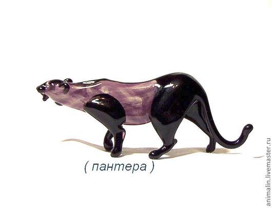 Статуэтки ручной работы. Ярмарка Мастеров - ручная работа. Купить Стеклянная фигурка пантера. Handmade. Кошка, маугли, кот