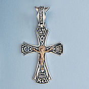 Украшения handmade. Livemaster - original item cross: Silver cross men`s