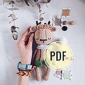 Мягкие игрушки ручной работы. Ярмарка Мастеров - ручная работа Олень МАСТЕР КЛАСС крючком. Handmade.