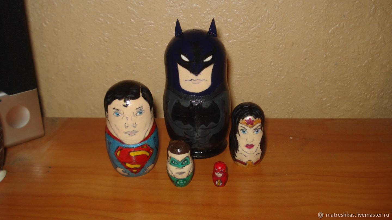 Customized Gifts handmade. Livemaster - handmade. Buy Matryoshka Super heroes (custom).Handmade, new year, brooch logo