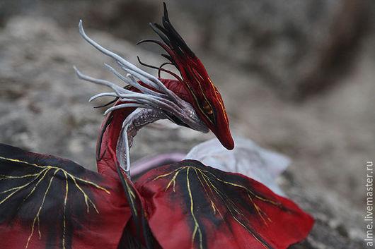 Сказочные персонажи ручной работы. Ярмарка Мастеров - ручная работа. Купить Пара драконов. Handmade. Комбинированный, фэнтези, стеклянные бусины