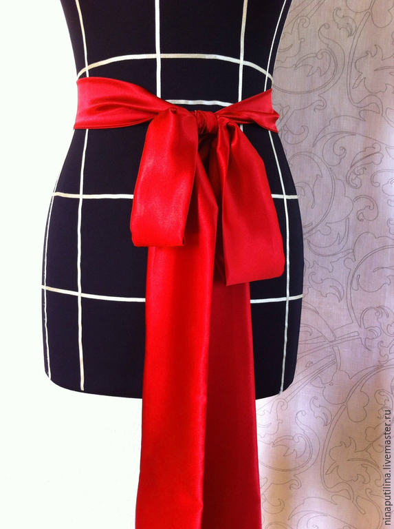 Пояс атласный для платья