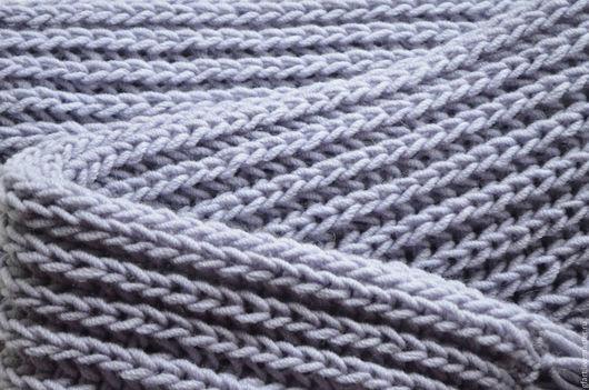 Шарфы и шарфики ручной работы. Ярмарка Мастеров - ручная работа. Купить Шарф длинный, объемный, серый с кистями-бахромой. Handmade.