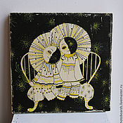 """Картины и панно ручной работы. Ярмарка Мастеров - ручная работа Картина на дереве """"Вдвоем"""". Handmade."""