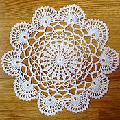 Для дома и интерьера ручной работы. Ярмарка Мастеров - ручная работа Вязанная крючком салфетка. Handmade.