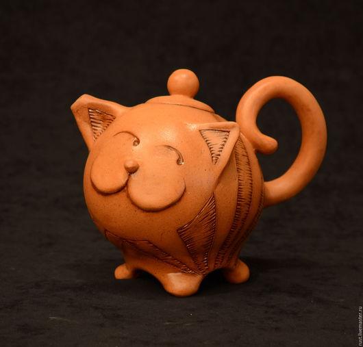 """Чайники, кофейники ручной работы. Ярмарка Мастеров - ручная работа. Купить чайник """"Кот"""". Handmade. Разноцветный, авторская ручная работа"""