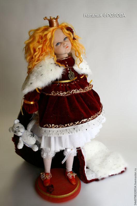Коллекционные куклы ручной работы. Ярмарка Мастеров - ручная работа. Купить Золотая девочка. Handmade. Комбинированный, подарок, бархат