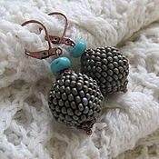 Украшения ручной работы. Ярмарка Мастеров - ручная работа Серьги из бисера, круглые серьги, серьги шарики, маленькие серьги. Handmade.