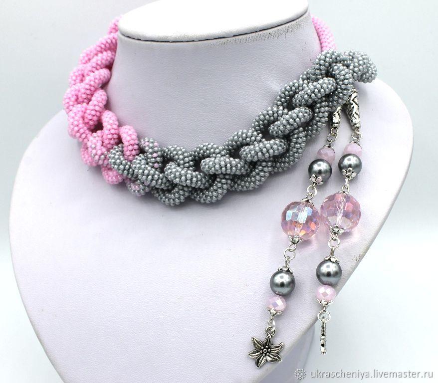 Lariat 'Dusty rose', bead harness, Lariats, Ryazan,  Фото №1