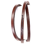 Украшения handmade. Livemaster - original item Bracelet wrapped leather N-3 brown engraved. Handmade.