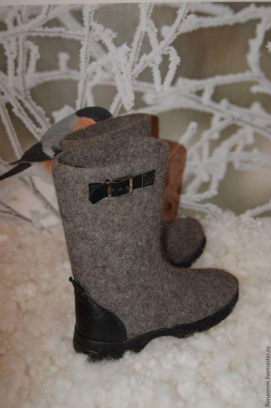 """Обувь ручной работы. Ярмарка Мастеров - ручная работа. Купить Сапоги валяные """"Drift"""". Handmade. Серый, комфорт, мужская обувь"""