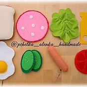 Куклы и игрушки ручной работы. Ярмарка Мастеров - ручная работа Набор для завтрака из фетра. Handmade.