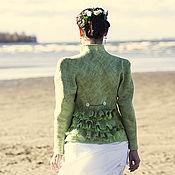 Одежда ручной работы. Ярмарка Мастеров - ручная работа Валяный  свадебный жакет с  многоярусными оборками. Handmade.