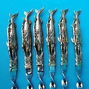 Подарки к праздникам handmade. Livemaster - original item Gifts: Set of skewers Sturgeon. Handmade.