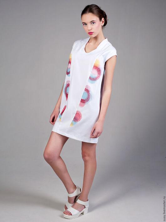 """Платья ручной работы. Ярмарка Мастеров - ручная работа. Купить Авторское нарядное платье """"Солнечная"""". Handmade. Белый, платье коктейльное"""