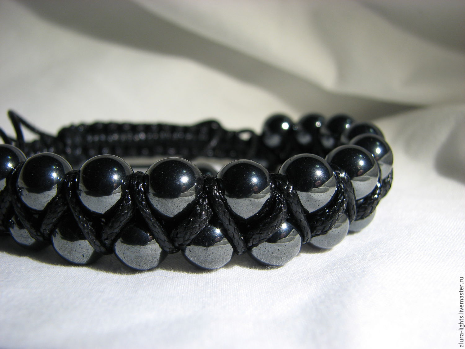 Shamballa Bracelet With Hematite Steel Shop Online On Livemaster