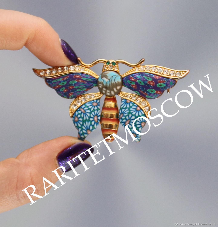 Винтаж: БРОШЬ бабочка мотылек Италия 322, Броши винтажные, Москва,  Фото №1
