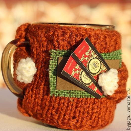 Кухня ручной работы. Ярмарка Мастеров - ручная работа. Купить Набор свитеров на чашку он и она. Handmade. Разноцветный, свитер на чашку
