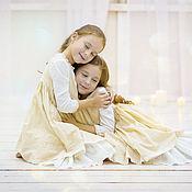 """Работы для детей, ручной работы. Ярмарка Мастеров - ручная работа Скидка-30%-Платье """"Принцесска"""" бежевое. Handmade."""