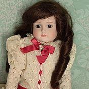 Винтаж ручной работы. Ярмарка Мастеров - ручная работа Большая фарфоровая кукла в стиле антикварной. Handmade.
