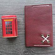 Канцелярские товары ручной работы. Ярмарка Мастеров - ручная работа Обложка для паспорта Red Brick. Handmade.