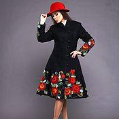 Одежда ручной работы. Ярмарка Мастеров - ручная работа Пальто демисезонное Бархатные розы. Handmade.