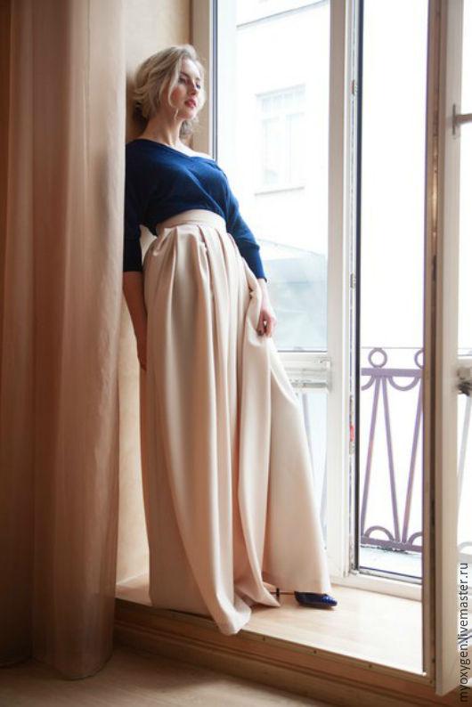 """Юбки ручной работы. Ярмарка Мастеров - ручная работа. Купить Юбка """"Утро должно быть добрым..."""". Handmade. Бежевый, юбка"""