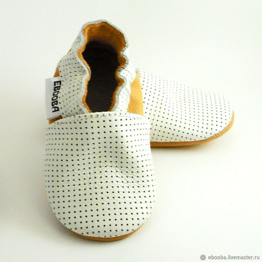 white soft sole baby shoes