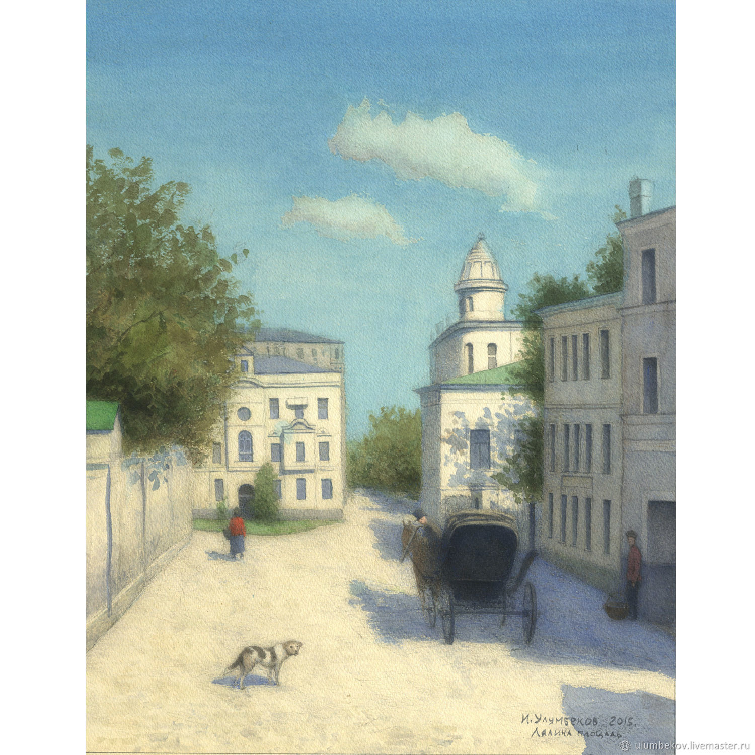 Buy finished painting Lyalin square Moscow, Pictures, Moscow,  Фото №1