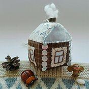 Подарки к праздникам ручной работы. Ярмарка Мастеров - ручная работа Домик  маленький из винтажного кружева и ткани. Handmade.