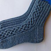Аксессуары ручной работы. Ярмарка Мастеров - ручная работа Носки мужские Grey blue. Handmade.