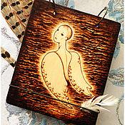 """Канцелярские товары ручной работы. Ярмарка Мастеров - ручная работа Блокнот деревянный """"Ангел"""".. Handmade."""