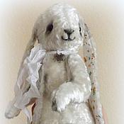 Куклы и игрушки ручной работы. Ярмарка Мастеров - ручная работа Зайка Тедди Жемчужинка. Авторский тедди. Handmade.
