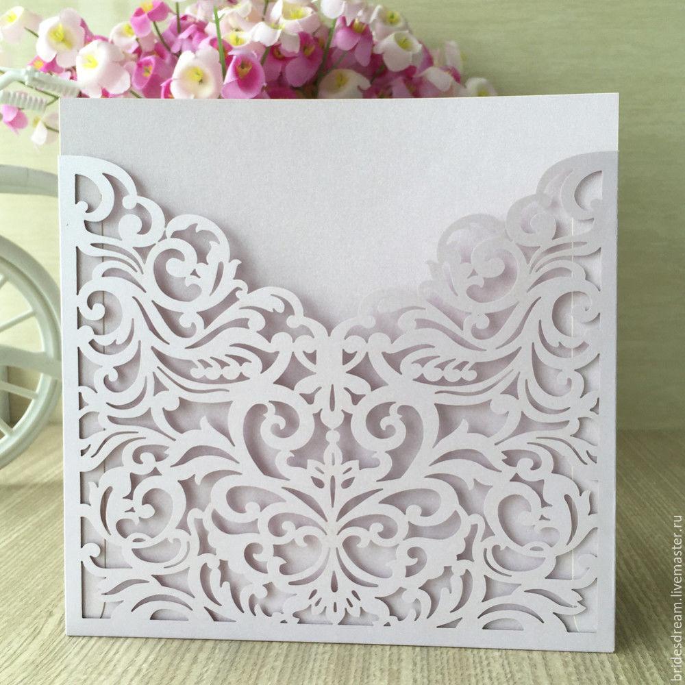 Wedding Accessories handmade. Livemaster - handmade. Buy Invitation. Wedding invitation. Wedding invitation.Postcard, combo, cardboard design