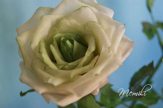 Цветы ручной работы. Ярмарка Мастеров - ручная работа. Купить Роза из холодного фарфора (белая). Handmade. Роза, подарок женщине